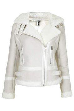 **Real Sheepskin Biker Jacket