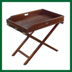 Victorian Edwardian Antique Solid Mahogany Butler Table Butler's Tray & Stand x