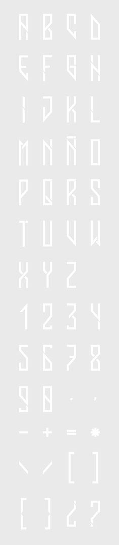 VUJ Typography by José Velázquez, via Behance