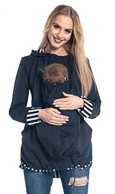 Happy Mama Womens Maternity Hoodie Carrier Baby Holder Adjustable Zippers Navy US 1214 XL >>> Visit the image link more details. Baby Holder, Maternity Hoodie, Armada, Zippers, Image Link, Navy, Hoodies, Sweaters, Tops