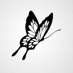 Butterfly Stencil, Butterfly Clip Art, Butterfly Drawing, Butterfly Tattoo Designs, Butterfly Painting, Stencil Art, Stencil Designs, Stencils, Cover Up Tattoos
