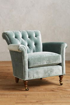 Slide View: 1: Slub Velvet Gwinnette Chair