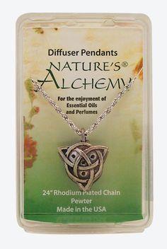 Celtic, Essential Oil Diffuser Pendant Necklace -xmas idea already.