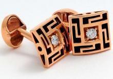 gold 18k onyx and diamond