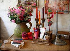 Bright colored candlesticks