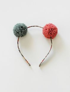 the | mini pom | headband