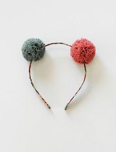 the   mini pom   headband