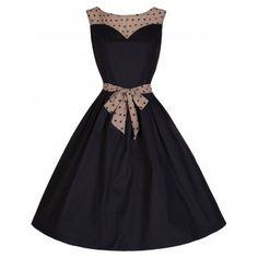 Davina Black Party Swing Dress | Vintage Inspired Fashion - Lindy Bop