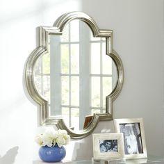 Option #1 - Silver Mughal Mirror - Wisteria - over desk area