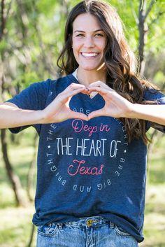 Deep in the Heart of Texas Navy Tee Shirt