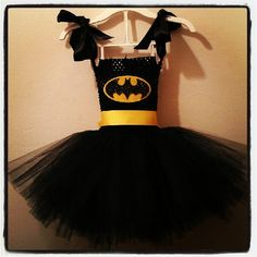 As a small child, I had the good fortune to be dressed as a dinosaur, a fairy princess, and other such adorable, normal costumes.  Not my child.  My child will be FRILLY BATMAN.  Halloween/Fall:  Batman Tutu Costume (with cape and eye mask) by JLDesigns123 on Etsy...Emma's 2012 Halloween Costume (my little Super HER-o)!
