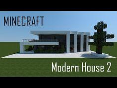 Minecraft Modern House 2 (full interior) + Download - YouTube