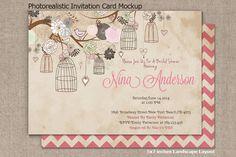 Invitation Card Mockup v2 by RD DesignStudio on Creative Market