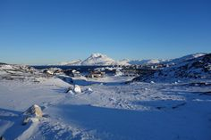 The suburbs of Nuuk, Greenland, with the Sermitsiaq mountain in the back [3283x2189]