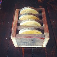 Rustic Reclaimed Wood Coasters with Wood Storage Box, 4 in a set - Reclaiming America $25