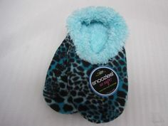 Women's Snoozie Slippers - BLUE LEOPARD #snoozies