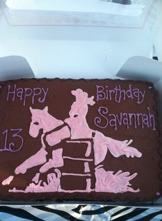 Barrel Racing silhouette cake