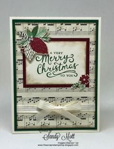 This Christmas Designer Series papers - created by Sandy Mott