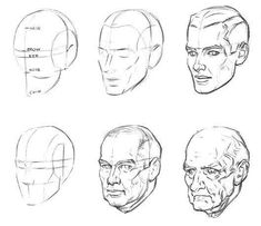 Uplifting Learn To Draw Faces Ideas. Incredible Learn To Draw Faces Ideas. Male Face Drawing, Drawing Heads, Guy Drawing, Drawing People, Drawing The Human Head, Drawing Poses, Drawing Reference, Draw Faces, Man Anatomy