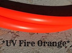 """UV FIRE ORANGE Polypro Dance Hoop 5/8"""" or 3/4"""" Collapsible"""