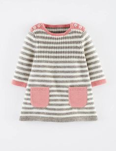 Stripy Knitted Dress 71365 Dresses at Boden