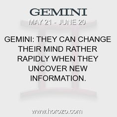 Fact about Gemini: Gemini: They can change their mind rather rapidly when... #gemini, #geminifact, #zodiac. More info here: https://www.horozo.com/blog/gemini-they-can-change-their-mind-rather-rapidly-when/ Astrology dating site: https://www.horozo.com