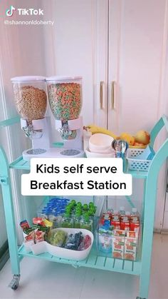 Baby Life Hacks, Useful Life Hacks, Parenting Done Right, Kids And Parenting, Breakfast Station, Snack Station, Future Mom, Future House, Home Organization