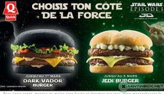 Quick, Burger Jedi & Dark Vador