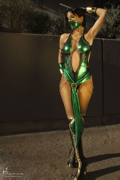 Jade from mortal kombat. My favorite MK character. My Costume Next halloween...yes I will be that sexy by then