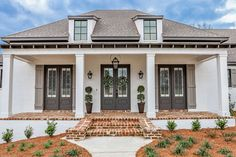 35 The Best European House Exterior Design Ideas - The European style is one that includes a variety of styles. For example, Spanish house plans can be considered to be European. So can Georgian style . French Country House Plans, European House Plans, Southern House Plans, Family House Plans, Cottage House Plans, Craftsman House Plans, New House Plans, Cottage Homes, Brick House Plans