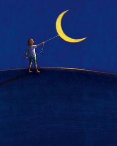 made by: Roberto Weigand , illustration - (The moon on a string)