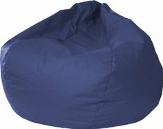 "Gold Medal 30014046824 XX-Large Leather Look Bean Bag, Navy by Gold Medal. $103.20. Made in usa. Child safe zipper. Double stitched. Filled with virgin expanded polystyrene beans. The XXL Bean Bag is Sturdy, Double Stitched, and has a Child Safe Zipper. A Navy Leather Look Vinyl. 140"" Circumference (L41"" x W41"" x H24""). Comfortably Fits all Ages. This Durable Bean Bag is Made in USA and has Easy Wipe Clean Maintenance. Filled with Virgin Expanded Polystyrene Beans."