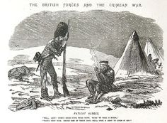British soldiers during the Crimean War in 1854