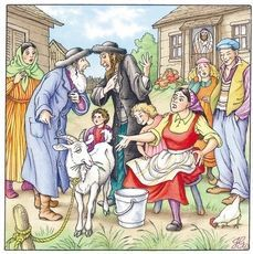 #goatvet likes this Jewish fairy story about a white nanny goat & billy
