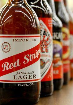 redstripe. jamaican beer.
