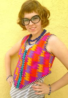 SALE Psychedelic Puzzle reversible vest perfect for Burning Man by madebyjulianne, $30.00