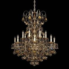 "Check out the Schonbek 3658 New Orleans 38-1/2"" Crystal 14 Light Up Lighting Chandelier priced at $4,301.00 at Homeclick.com."