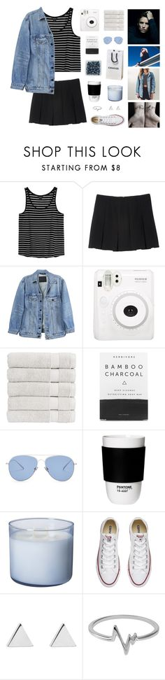 """""""she just wants to be beautiful - the basics"""" by fairly-local-on-the-radio ❤ liked on Polyvore featuring Sugoi, Monki, Y/Project, Fuji, Christy, Herbivore, Kaleos, ROOM COPENHAGEN, Converse and Jennifer Meyer Jewelry"""