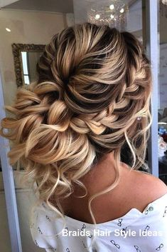 27 Braided Prom Hairstyles for Long Hair That Will Make You Gorgeous Braided Prom Hairstyles for Long Hair The dress is purchased, now you need to decide on the styling. What are the fashion trends of the season, what i., Braids for Special Occasions Braided Bun Hairstyles, Prom Hairstyles For Long Hair, Homecoming Hairstyles, Braids For Long Hair, Pretty Hairstyles, Hairstyle Ideas, Fashion Hairstyles, Braids For Wedding Hair, Braids For Prom