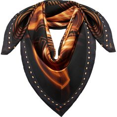 MCM 40th Anniversary Print Scarf ($325) ❤ liked on Polyvore featuring accessories, scarves, print scarves, patterned scarves, holiday scarves, square scarves and mcm