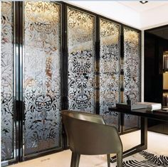 Folding Home Decorative Stained Glass Interior Doors For Wardrobe Glass Door