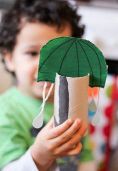 15 Rainy Day Activities for Children *Bookmarking these kids' craft and play ideas from Melissa & Doug. Loving this cardboard umbrella art project.