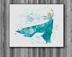 Princess Elsa DISNEY Frozen Art Print instant door digitalaquamarine