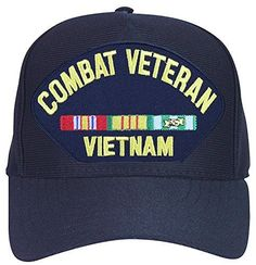 1fdaf5c5e1f Armed Forces Depot Combat Veteran Vietnam with Ribbons Baseball Cap. Navy  Blu.