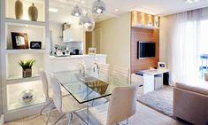 Salas de estar e jantar pequenas e integradas - veja dicas + modelos para apartamentos! - Decor Salteado - Blog de Decoração e Arquitetura