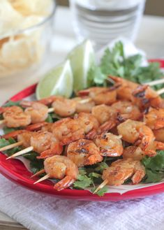Taco Lime Grilled Shrimp Skewers from @jennyflake