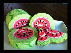 Watermelon Swiss Roll