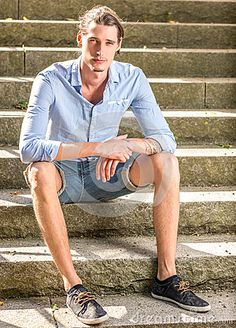 Male Sitting Outdoors  #student #bright #healthy #one #outdoors #nature #person #summer #stair #day #Caucasian #male #tranquil #guy #calm #youth #carefree #contemplation #outside #portrait #casual #stairs #fashion #lifestyle #spring #single #shirt #young #adult #looking #model #leisure #man #sitting #relaxing #people #stone #urban #attractive #happiness #modern #handsome #masculine