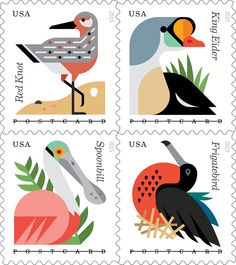 Because of the overwhelmingly positive response to the Forever® stamps, we're now extending the convenience. Featuring eye-popping digital illustrations, the new Coastal Birds postcard stamps will always be equal in value to the current postcard price at the time of use. Best of all, these beauties will be available Monday, June 1!