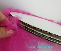 How to make a tutu cupcake stand using tulle... - possibly make to put cookies on for Deirdre's bday?